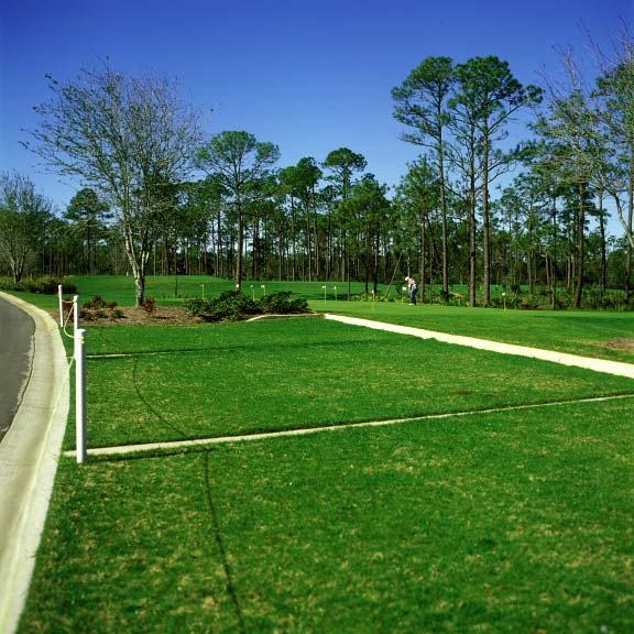 Permeable parking was installed in off-street parking areas at the Regatta Bay Golf Course in Destin, Florida, using Grasspave2.