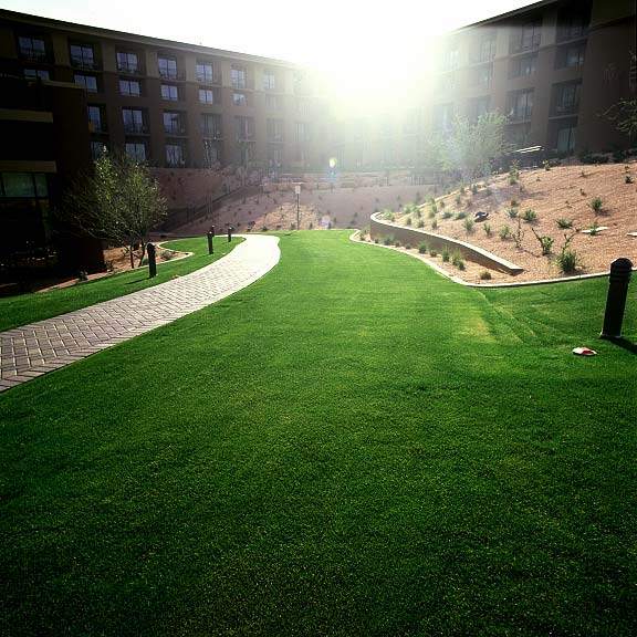 A grass reinforcement system was installed in the fire-lane access areas at the Westin Kierland Resort and Spa in Scottsdale, Arizona, using Grasspave2.