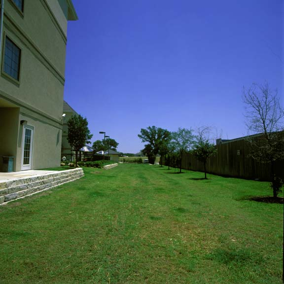 Porous-Grass Paving was installed at the Staybridge Suites in Round Rock, Texas, using Grasspave2.