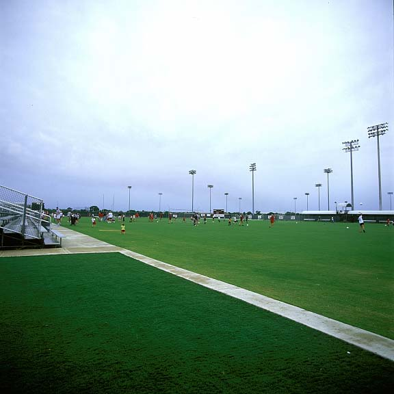 A Drainage Layer was installed at Texas A & M Women's Soccer field in College Station, Texas, using Draincore2.