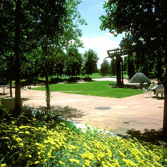 Porous Paving was installed in the fire lane access areas at the Orchard Road Corporate Building, Englewood, Colorado, using Grasspave2.