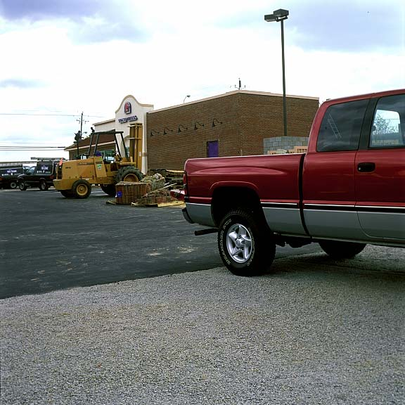 Pervious Pavers were installed in the parking bays at Taco Bell, Henderson, North Carolina, using Gravelpave2.