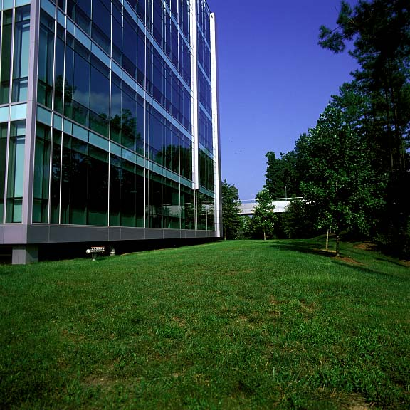 Pervious Pavement was installed in the fire lane access areas at MCI Administration Complex, Cary, North Carolina, using Grasspave2.