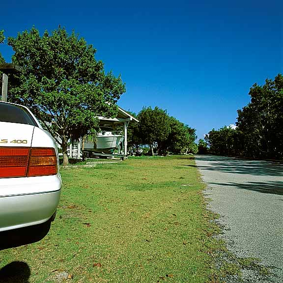 Grass Paving was installed in the parking and swale areas at Biscayne National Park, Homestead, Florida, using Grasspave2.