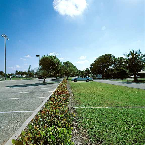 Permeable Pavers were installed in off-street parking areas at Kester Park, Pompano Beach, Florida, using Grasspave2.