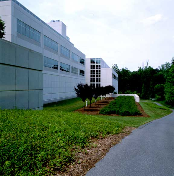 Pervious Pavers were installed for fire lane access and jogging at National Archives, Adelphi, Maryland, using Grasspave2.