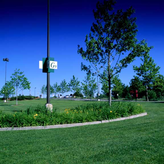 Turf Reinforcement was installed in the parking area at Westfarms Mall, West Hartford, Connecticut, using Grasspave2.