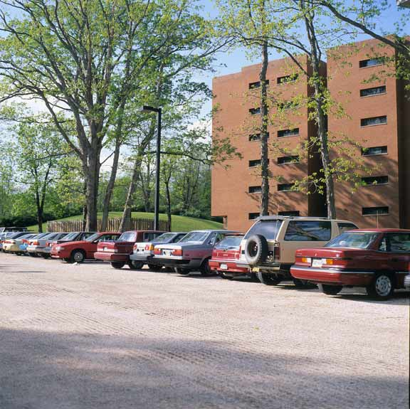 Porous Paving was installed in the parking areas at Frostburg State University, Frostburg, Maryland, using Gravelpave2.