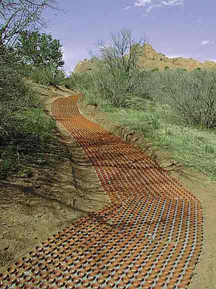 Pervious Paving was installed at the Garden of the Gods, Colorado Springs, Colorado, using Gravelpave2.