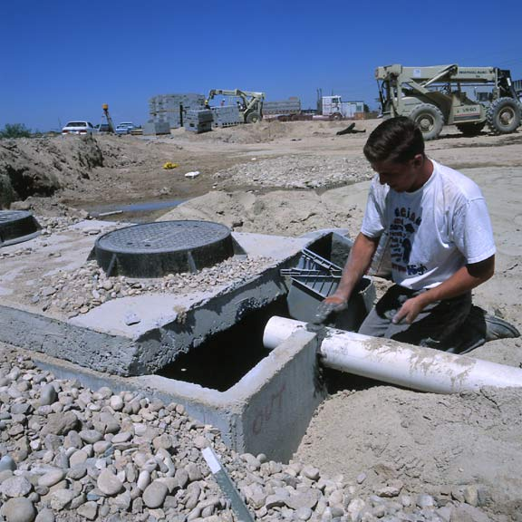 Underground-Water Storage was installed at the Canyon County Humane Shelter, Caldwell, Idaho, using Rainstore3.