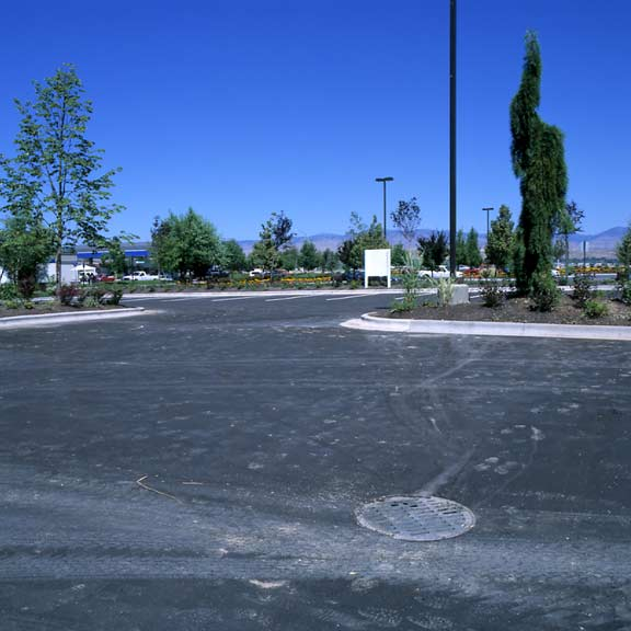 Subsurface-Water Storage was installed at the North Channel Center, Office Bldg. #1, Eagle, Idaho, using Rainstore3.