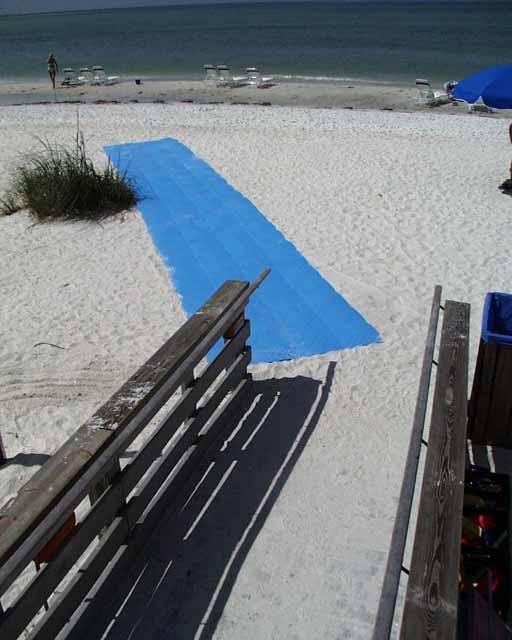 Portable-Access Mats were installed at Longboat Key Club Resort, Longboat Key, Florida, using Beachrings2.