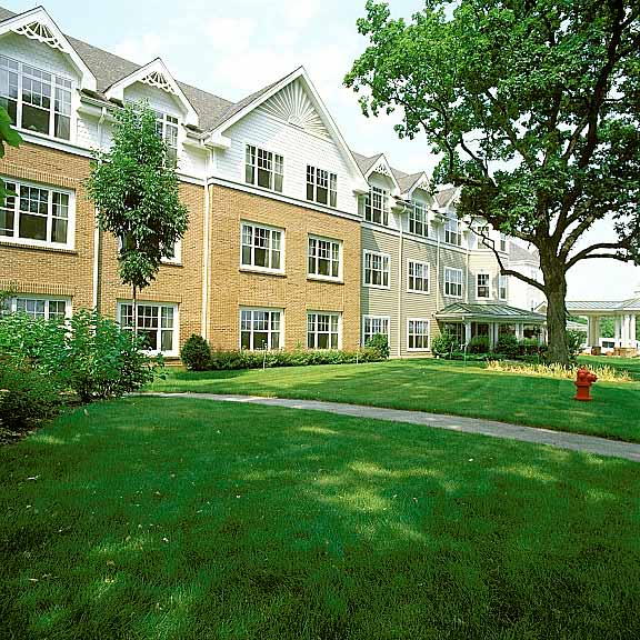 Grass Paving was installed at Sunrise Assisted Living, Bloomingdale, Illinois, using Grasspave2.