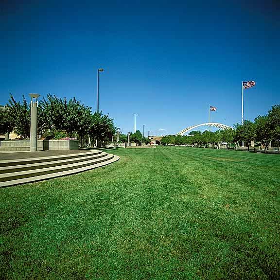 Grass Paving was installed at Yeatman's Cove Park, Cincinnati, Ohio, using Grasspave2.