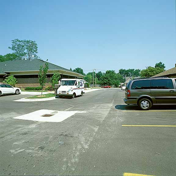 An underground-stormwater chamber was installed in the parking-lot driveway at Summit Chiropractic in Waterford, Michigan, Rainstore3.