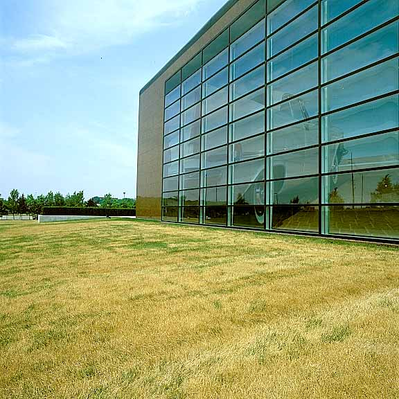 Reinforced-Grass Fire Lane was installed in the fire lane access areas at the Walter P. Chrysler Museum in Pontiac, Michigan Grasspave2.