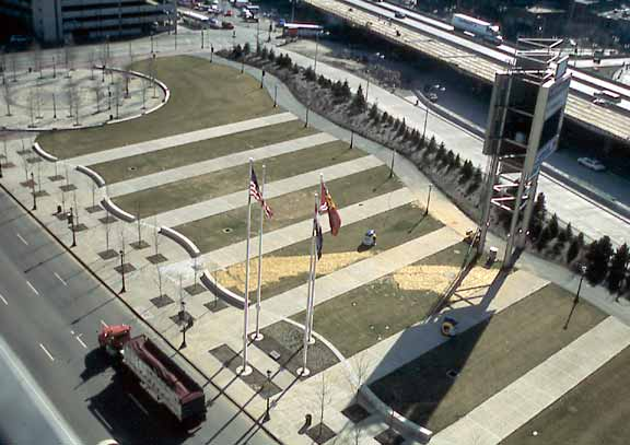 Grass pavement was installed in the St. Louis Rams Stadium in St. Louis, Missouri, using Grasspave2.