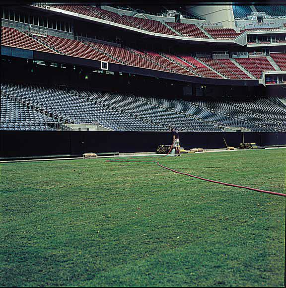 A drainage layer was installed in the Reliant Stadium Temporary Soccer Field, Houston, Texas, using Draincore2.
