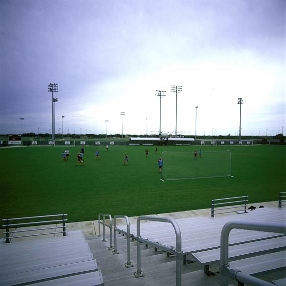Drainage Mats were installed at Texas A & M Women's Soccer field in College Station, Texas, using Draincore2.