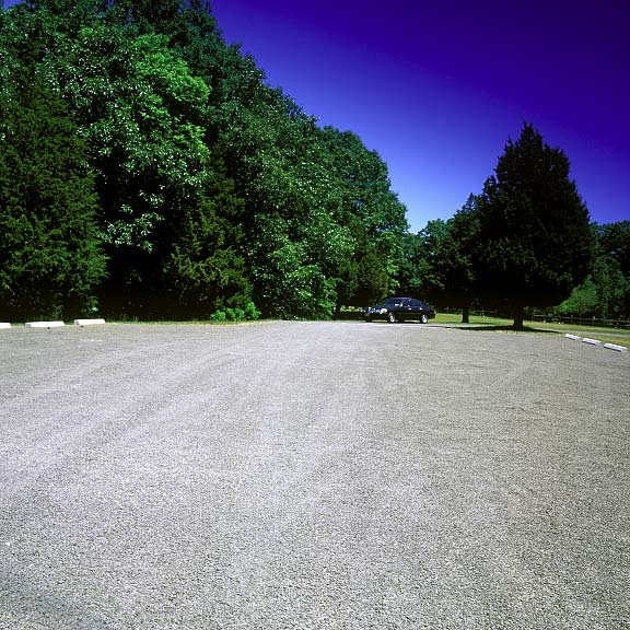 Gravel Reinforcement was installed in the parking lot which provides wheel-chair access at Fort Shantok State Park, Mohegan Tribe, Uncasville, Connecticut, using Gravelpave2.
