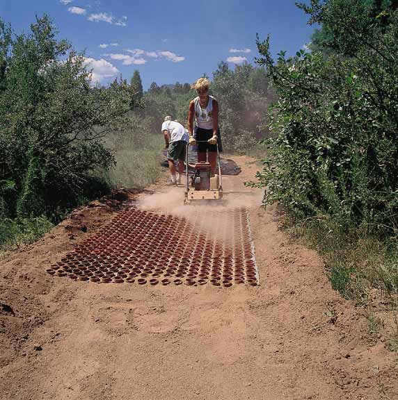 Porous Paver was installed at the Garden of the Gods, Colorado Springs, Colorado, using Gravelpave2.