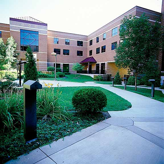 Grass-Porous Pavers were installed in the fire lane access areas at the Drake Center, Cincinnati, Ohio, using Grasspave2.