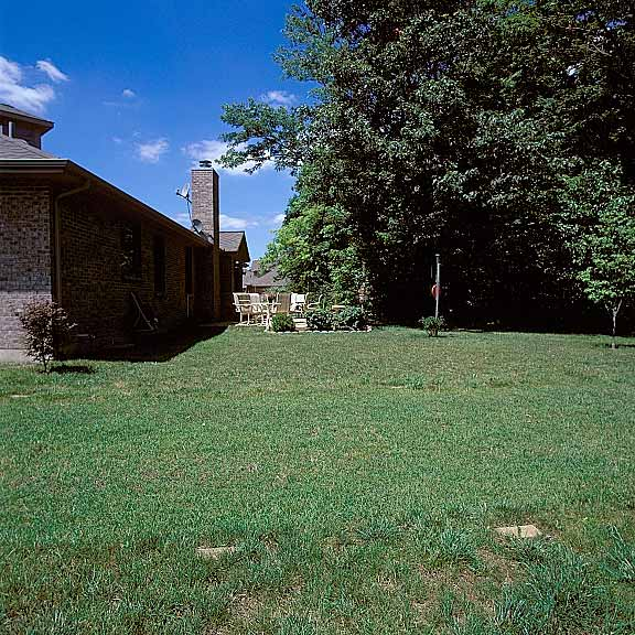 Grass-Porous Pavement was installed in the driveway area around the detached garage at the Ramsey Residence, Brookville, Ohio, using Grasspave2.