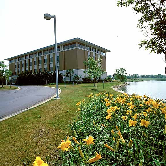 Porous Pavement was installed in the fire lane access areas at the Kane County Judicial Center, Geneva, Illinois, using Grasspave2.