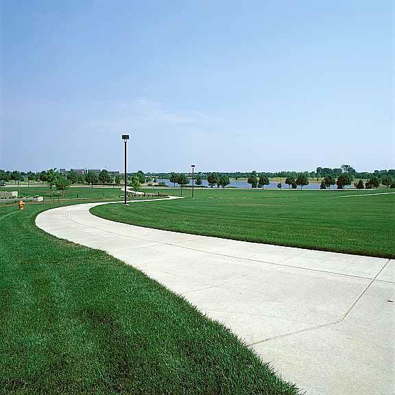 Grass fire lane was installed in Bloomington, Illinois, using Grasspave2.