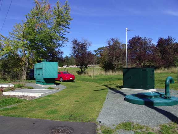 Grass porous pavers were installed in the utility access areas at the Blenkinsop Lift Pump Station, Victoria, British Columbia, using Grasspave2.