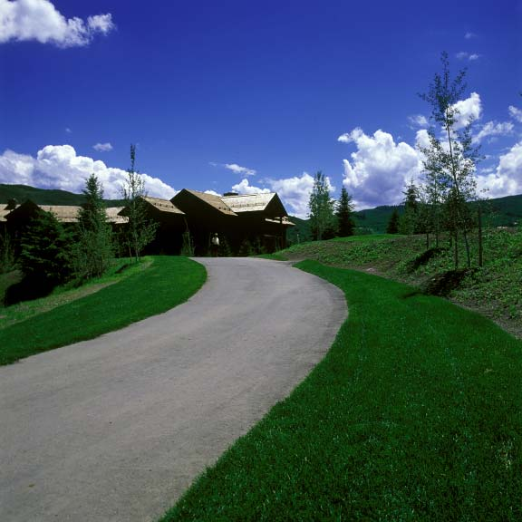 Permeable grass paving was installed in fire-lane access areas at the Snowmass Club in Snowmass, Colorado, using Grasspave2.