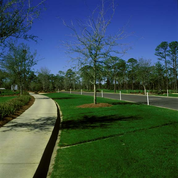 Pervious pavers were installed in off-street parking areas at the Regatta Bay Golf Course in Destin, Florida, using Grasspave2.
