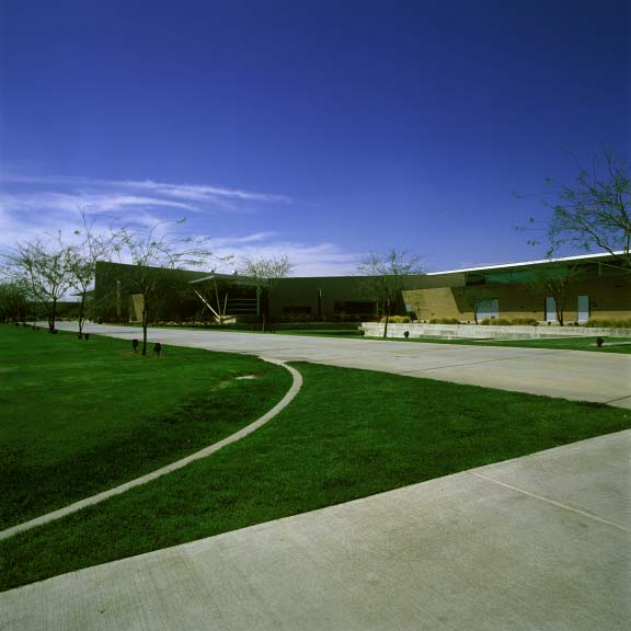 Grass pavers were installed in fire-lane access areas at Glendale Community College using Grasspave2.
