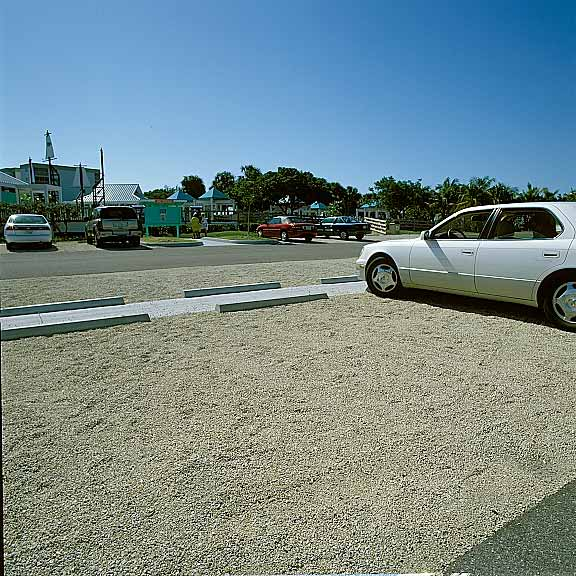 Turf Pavers were used in the parking lots using Gavelpave2.