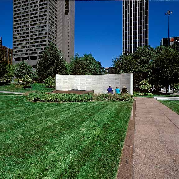 Grass Pavement was installed in the fire lane access areas at the Ohio Statehouse Capitol and Veterans Plaza, Columbus, Ohio, using Grasspave2.