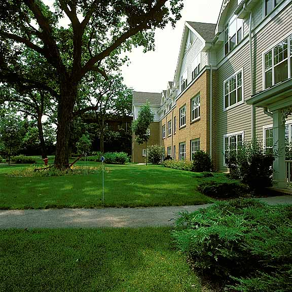 Pervious Pavers were installed Sunrise Assisted Living, Bloomingdale, Illinois, using Grasspave2.