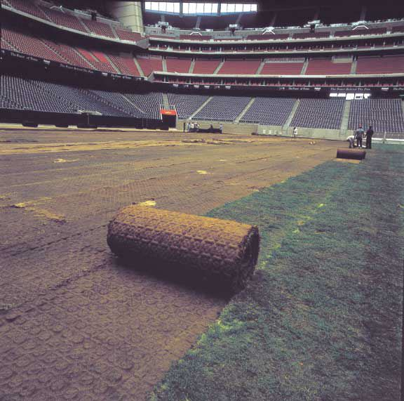 A subsurface water drainage system was installed in the Reliant Stadium Temporary Soccer Field, Houston, Texas, using Draincore2.