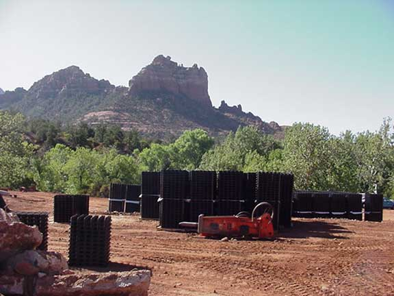 Storm-water storage was installed at the Creekside Resort, Sedona, Arizona, using Rainstore3.