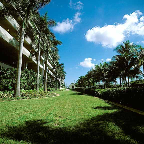 Porous Pavers were installed in the fire lane access areas at Fort Lauderdale International Airport Hibiscus Parking Garage using Grasspave2.