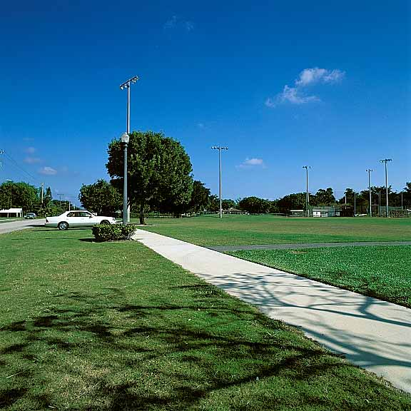 Grass Pavement was installed in off-street parking areas at Kester Park, Pompano Beach, Florida, using Grasspave2.