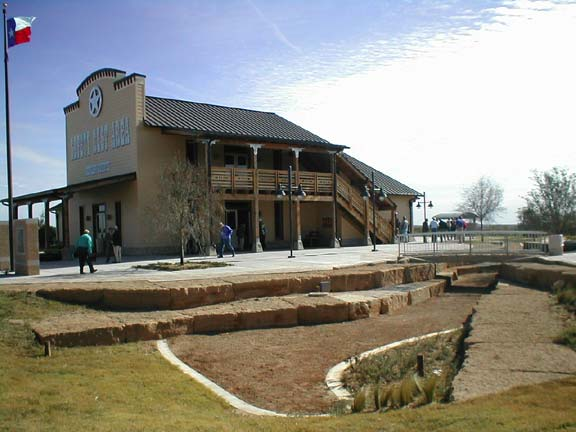 Permeable paving was installed at the Donley County Safety Rest Area in Hedley, Texas, using Grasspave2.