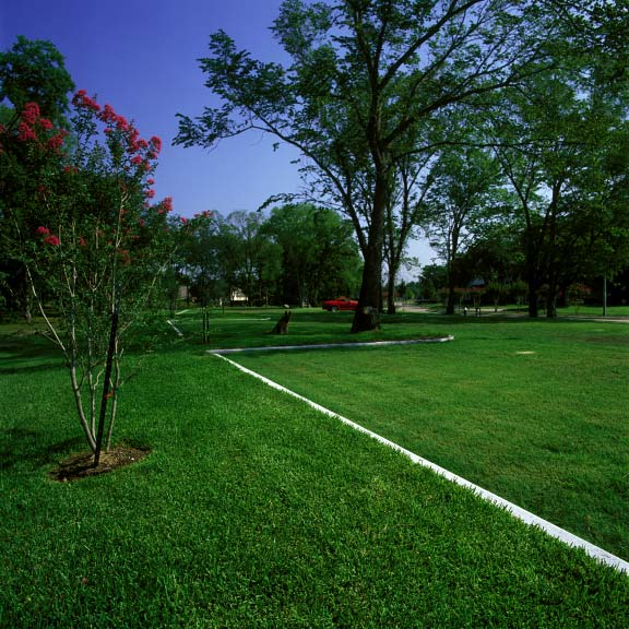 Pervious turf was installed in the parking lot at the Jersey Baptist Church in Houston, Texas, using Grasspave2.