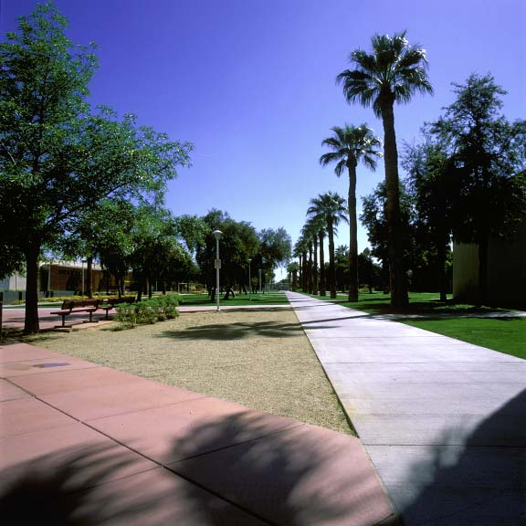 Aggregate paving and grass paving were installed in fire-lane access areas at Glendale Community College using Grasspave2 and Gravelpave2.