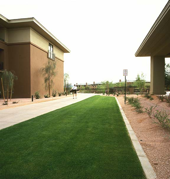 Grass pavers were installed in the fire-lane access areas at the Westin Kierland Resort and Spa in Scottsdale, Arizona, using Grasspave2.