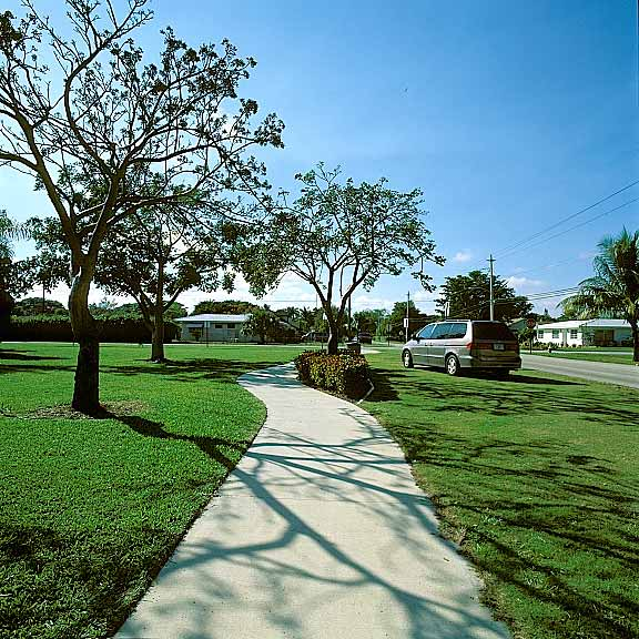 Pervious Pavers were used for off-street parking at Kester Park, Pompano Beach, Florida, using Grasspave2.
