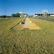 Permeable grass pavers were installed using Grasspave2.