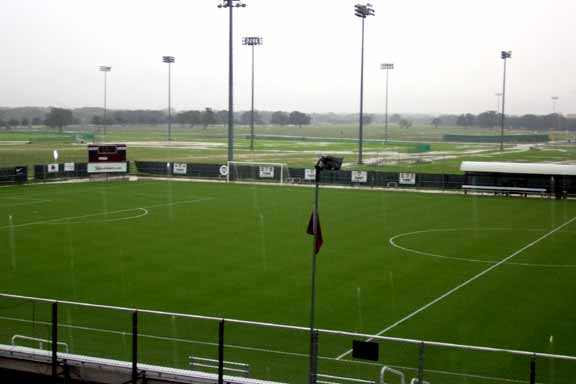 Geocomposite Drainage was installed at the Texas A & M Soccer Field, College Station, Texas, using Draincore2.