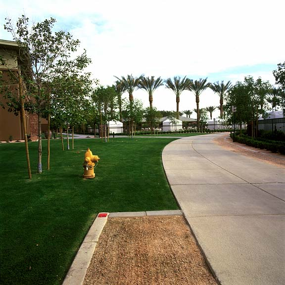 Permeable paving was installed in the fire-lane access areas using a combination of Grasspave2 and Gravelpave2.