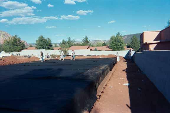 An underground storm-water chamber was installed at the La Terraza Center (Shopping), Sedona, Arizona, using Rainstore2.