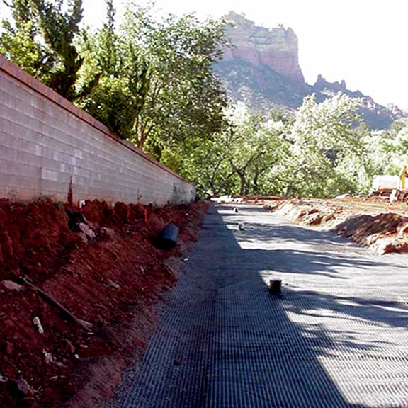 Underground storage mats were installed at the Creekside Resort, Sedona, Arizona, using Rainstore3.